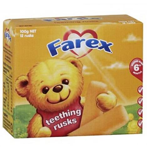 Farex 婴儿磨牙饼干100g