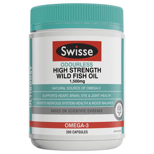 Swisse 无腥味深海鱼油1500mg 胶囊 200粒