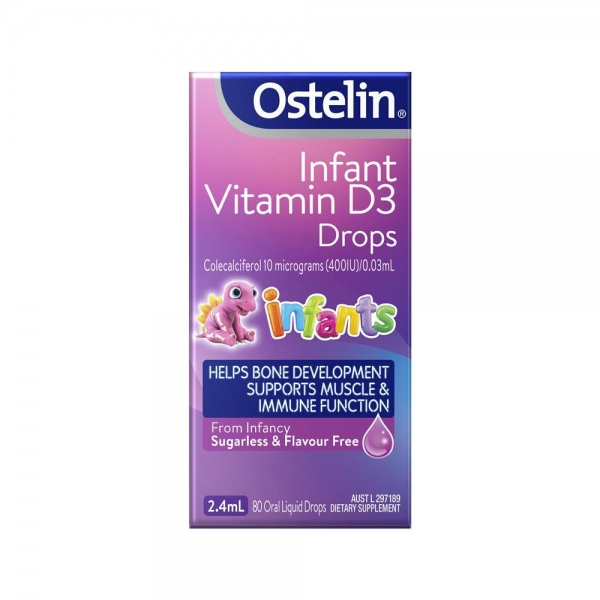Ostelin Infant Vitamin D3小恐龙维他命D3 2.4ml